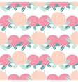 Seamless pattern with abstract rose flowers vector image