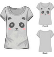 t shirt with fashion print with panda vector image