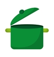 kitchen pot green icon vector image