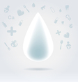 White glowing milk drop vector image
