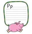 Children of little pig Alphabet P vector image