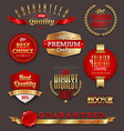 Premium quality golden labels and emblems vector image vector image