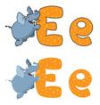 letter E elephant vector image vector image