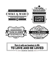 Wedding stamps version vector image