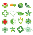 collection of logos of Medicine and Pharmac vector image