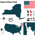 USA map New York vector image