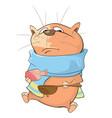 sick cat cartoon character vector image