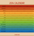 Full color 2014 calendar vector image vector image