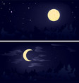 two phases of the moon vector image