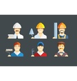 Building occupation Set of vector image vector image