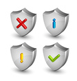Notification shield icons vector image vector image