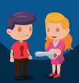 Man Woman Coupled Key Hold vector image