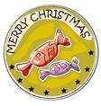 merry christmas retro vector image vector image