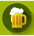 Irish ginger beer St Patricks day symbol vector image