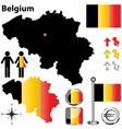 Belgium map small vector image vector image