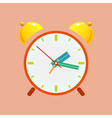 Alarm Clock Isolated on Orange Background vector image