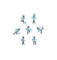 Blue black soccer team icons vector image