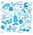 children texture boy vector image