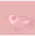 Cute birds cartoon drawing in heart form vector image