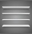 empty white shop shelf vector image