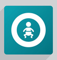 flat baby icon vector image