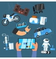 Internet Technology and Devices Icons Set vector image
