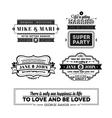 Wedding stamps version vector image