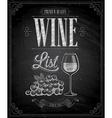 wine chalk vector image
