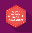 money back guarantee icon in flat style isolated vector image