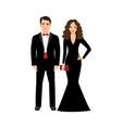young elegant fashionable couple vector image