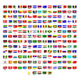 Flags of all countries in the world vector image vector image