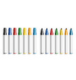 colorful marker pen opened and closed marker vector image