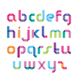 color alphabet with sharp corners vector image