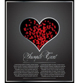 heart shaped card vector image vector image