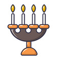 candlelight candlestick icon cartoon style vector image