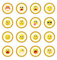 emoticon icon circle vector image