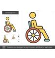 Handicap line icon vector image