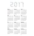 modern calendar 2017 on white vector image