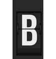 Split flap mechanical board detail vector image