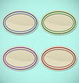 Set of vintage oval stamps vector image vector image