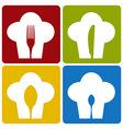 Icon chef restaurant set pattern vector image