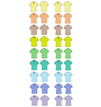 Polo t-shirts vector image