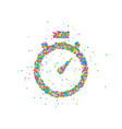 abstract stopwatch splash vector image