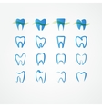 tooth icon set vector image