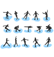 Figure skating silhouettes vector