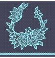 Vintage lace background abstract ornament texture vector image