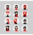 Cards with woman faces for your design vector image vector image