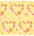 Tropical Hearts Flowers Background vector image