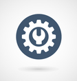 Wrench spanner and cogwheel - service icon vector image