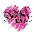 Sparkle glitter Valentines Day heart vector image